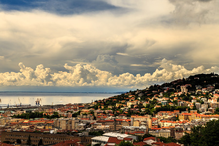 a big storm approaching the city of Trieste