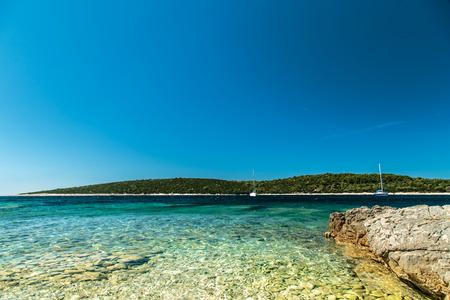 dalmatia: a sunny day at the sea in Croatia Stock Photo