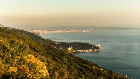 trieste: evening in the bay of Trieste in a summer day Stock Photo