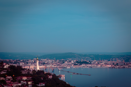 trieste: the lighthouse of the city of Trieste