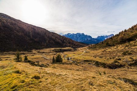 Fall is coming in the italian alps