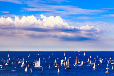 spinnaker: one of the biggest regatta in the world with more than 2100 boats: the Barcolana
