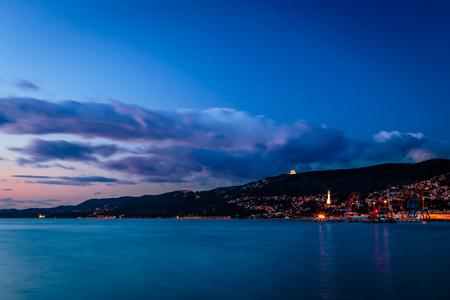 evening on the shoreline of Trieste