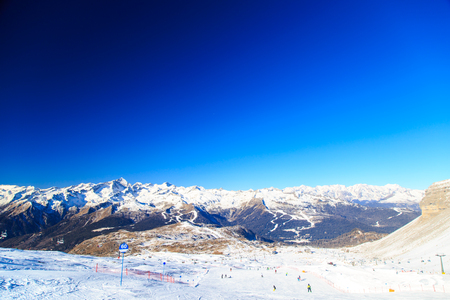 the ski slopes of Madonna di Campiglio are ready for the skiers