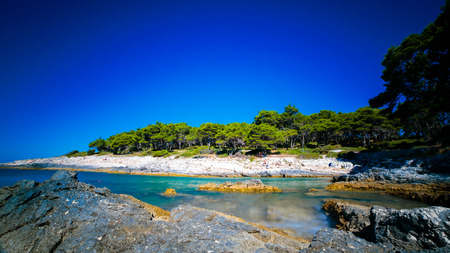 a sunny day at the sea in Croatia Stock Photo
