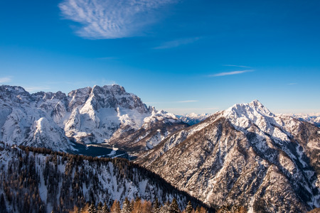 The peaks of Tarvisio in the italian alps