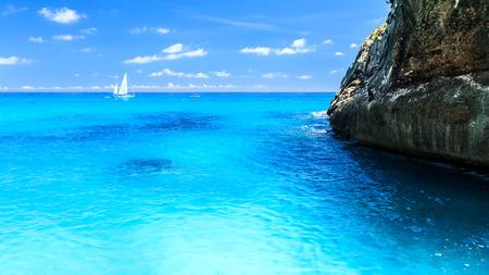 The beautiful bay in the Gulf of Orosei, Sardinia