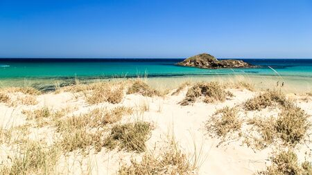 a summer day at the beach in Sardinia, Italy