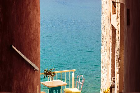 The beautiful town of Rovinj in a sunny day