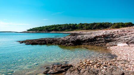 The beautiful sea of Premantura, Croatia Banco de Imagens
