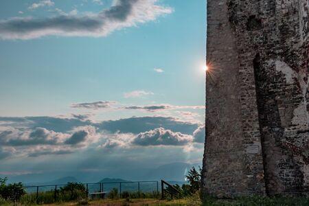 Summer sunset at the old castle, Friuli Venezia-Giulia, Italy