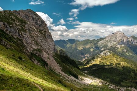 Summer day in the alps of Friuli Venezia-Giulia, Italy