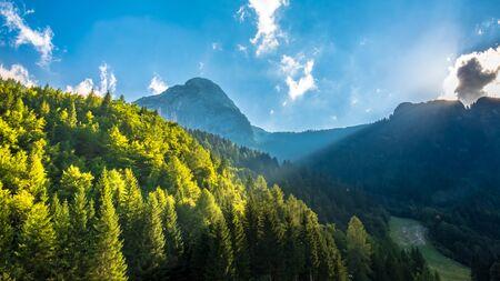 A beautiful summer day in the Julian Alps in Friuli Venezia-Giulia, Italy