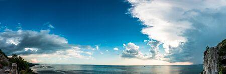 Storm over the sea in the gulf of Trieste, Friuli Venezia-Giulia, Italy