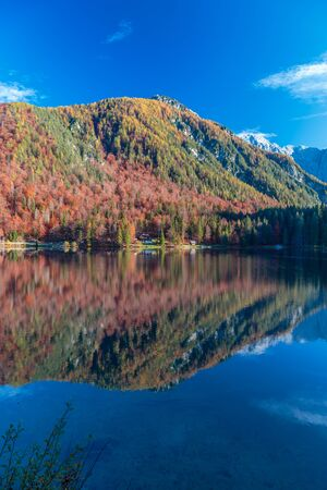 october afternoon at the lake during a colorful autumn Banco de Imagens
