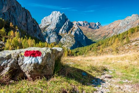 A beautiful sunny autumn day in the Alps of Friuli Venezia-Giulia, Italy Stock fotó
