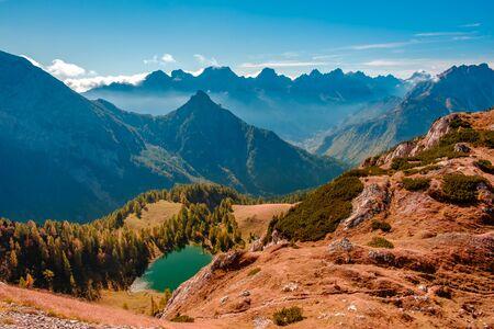 A sunny autumn day in the Carnic Alps in Friuli Venezia-Giulia, Italy Stock fotó