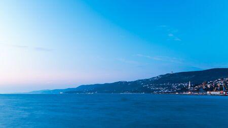 winter evening in the gulf of Trieste Zdjęcie Seryjne