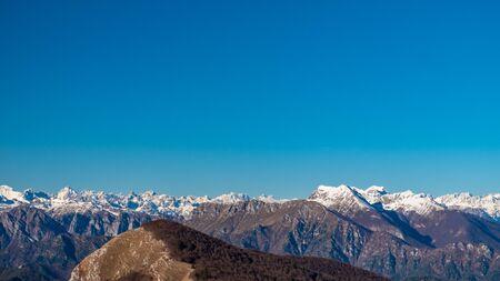 The view from M. Cuar in Friuli-Venezia Giulia, Italy 版權商用圖片