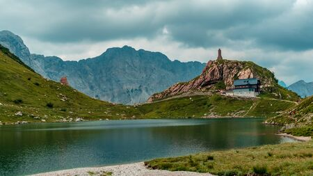 A cloudy summer day in the Carnic Alps in Friuli Venezia-Giulia, Italy 版權商用圖片