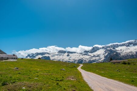 A beautiful spring day on the Montasio plan, Julian Alps, Friuli-Venezia Giulia, Italy