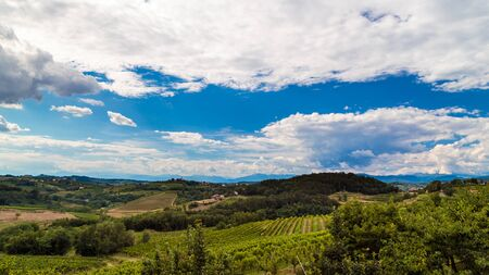 Rain and sun in the vineyards of Slovenia