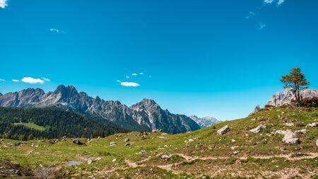 May sunny day in the alps of Friuli-Venezia Giulia, Italy