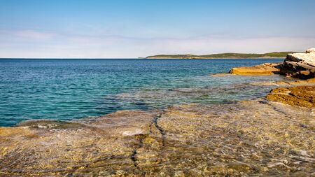 The beautiful sea of Premantura, Croatia 版權商用圖片