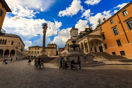 The beautiful city of Udine in a spring afternoon