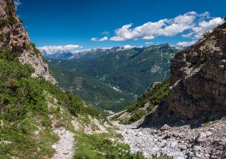 July sunny day in the Dolomiti Friulane Park, Friuli-Venezia Giulia, Italy Фото со стока