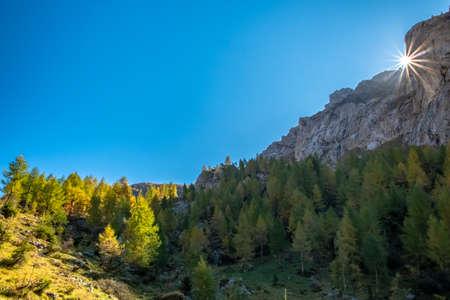 A beautiful sunny autumn day in the Alps of Friuli Venezia-Giulia, Italy