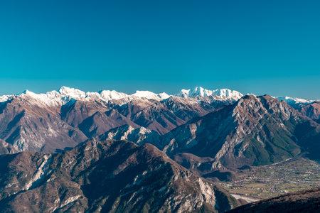 The view from M. Cuar in Friuli-Venezia Giulia, Italy