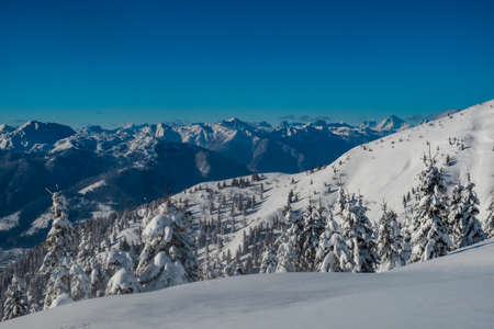 Carnic alps after a big snowfall. Udine province, Friuli-Venezia Giulia region, Italy