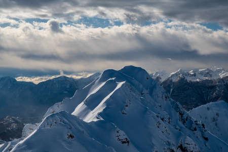 On Mount Zoncolan, Carnic alps after a big snowfall. Udine province, Friuli-Venezia Giulia region, Italy