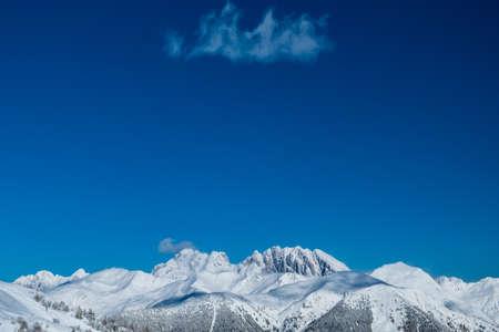 A look to mount Coglians, the tallest mountain of Friuli Venezia-Giulia, from Mount Zoncolan. Carnic Alps, Udine province, Friuli-Venezia Giulia region, Italy