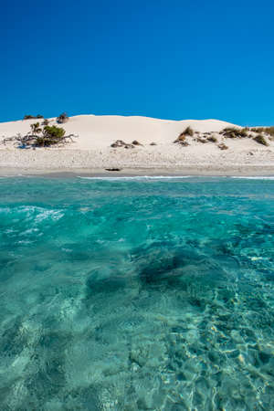 Summer day at Is Arenas Biancas, a beautiful beach in the south-west of Sardinia
