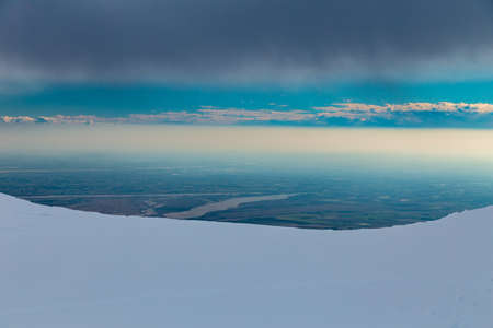 Carnic alps after a big snowfall. Pordenone province, Friuli-Venezia Giulia region, Italy Archivio Fotografico