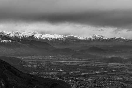 Carnic alps after a big snowfall. Pordenone province, Friuli-Venezia Giulia region, Italy