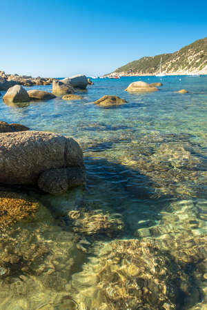 Summer day at Cala Pira, a beautiful bay in the south-east of Sardinia