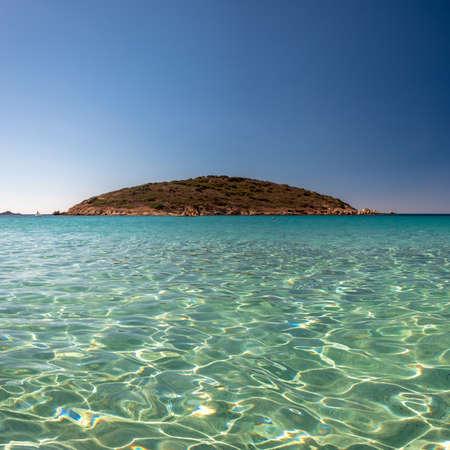 Summer day at Turredda beach, a beautiful sandy bay in the south of Sardinia Imagens
