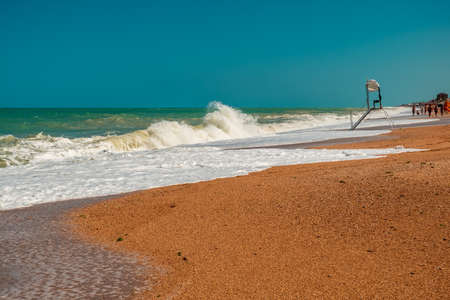 After a storm the sun returns in Conero, Marche Region, Italy