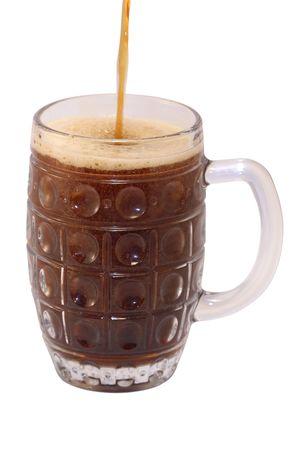 schwarzbier: Dunkles Bier go� in Glas Lizenzfreie Bilder