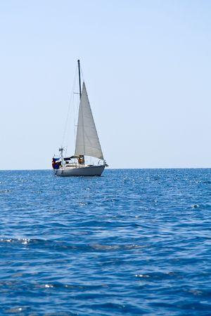 Sailboat on black sea - Crimea, Ukraine Stock Photo - 3502838