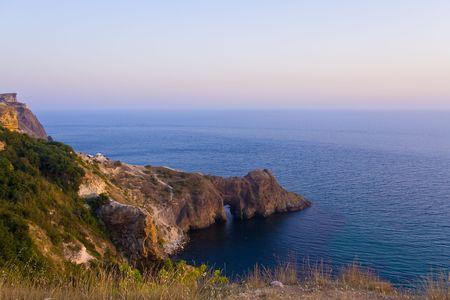 rock arch: A natural rock arch in Crimea
