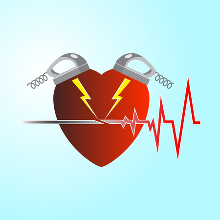 Two defibrillators cause the heart to work again, a pulse appears.