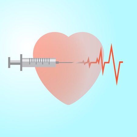 the use of an injection saves a life when the heart stops Ilustração