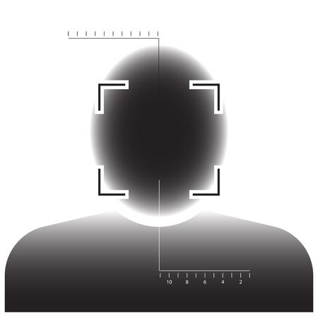 Face detection biometrical identification. Banque d'images - 105203046