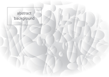 White and gray abstract background with divided circles Illusztráció