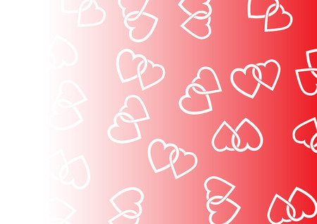 Background consisting of two hearts woven together. For your poster and design  イラスト・ベクター素材
