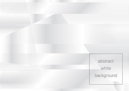 White abstract background with transparent stripes. Light geometric pattern with shadows for your project.